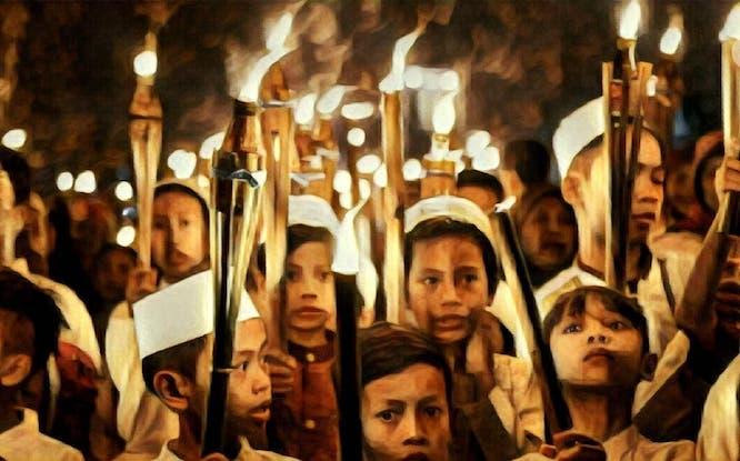 Hari Raya, Takbir Keliling, Tradisi Jawa, Tradisi Bulan Ramadan